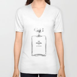 Fashion illustration sketch Unisex V-Neck