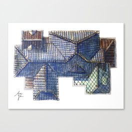 Taiwanese roofscapes 02 Canvas Print