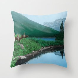 The Hunting Ground - Blackfoot American Indian Throw Pillow
