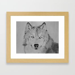 Wolf, darkened Framed Art Print
