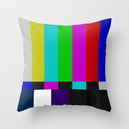 SMPTE Color Bars (as seen on TV) Throw Pillow