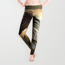 Steampunk, awesome steampunk horse Leggings