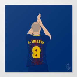 Andres Inresta - FC Barcelona Canvas Print