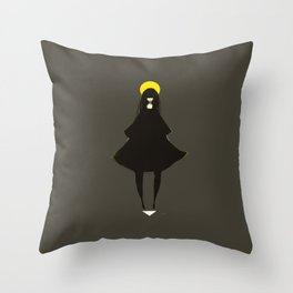 My God Is Behind Me Throw Pillow
