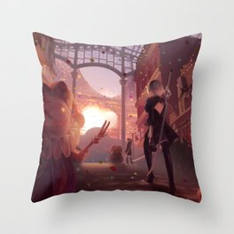 NieR: Automata - Welcome to the Amusement Park Throw Pillow