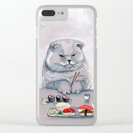 """""""Sushi Cat"""" Mr.Grumps Clear iPhone Case"""