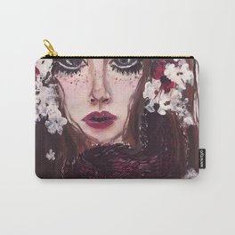 White Blossom Viper Carry-All Pouch