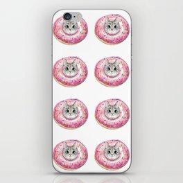 cat donuts pattern iPhone Skin