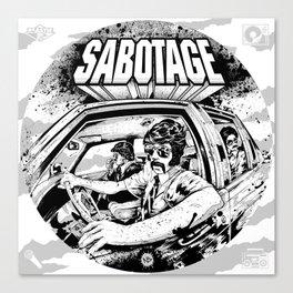 Sabotage Canvas Print
