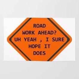 Road Work Ahead Rug