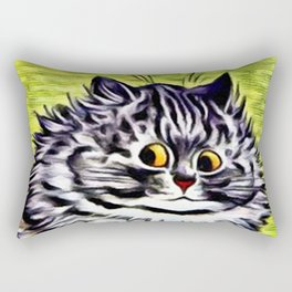 "Louis Wain's Cats ""Kitty On Coffee Break"" Rectangular Pillow"