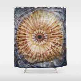 Underwater Sea Star Mandala Shower Curtain