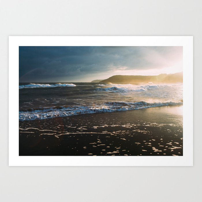Misty Ocean #sunset Art Print