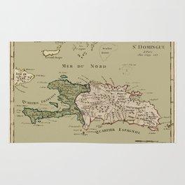 Map Of Hispaniola 1767 Rug