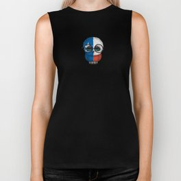 Baby Owl with Glasses and Texas Flag Biker Tank