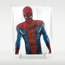 The friendly neighborhood Spidey Shower Curtain