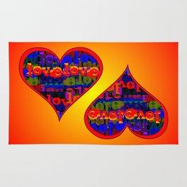 Love Love Heart Sunfire Rug