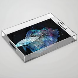 Betta Fish Galaxy Acrylic Tray