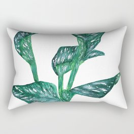 green calla lily Rectangular Pillow