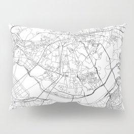 Seoul White Map Pillow Sham