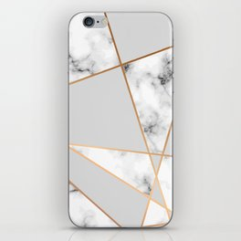 Copper smokey marble geo iPhone Skin