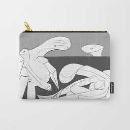 Picasso - On the beach (Grey) Carry-All Pouch