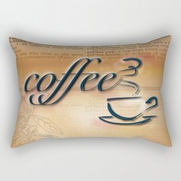 Coffee Love by Kathy Morton Stanion Rectangular Pillow