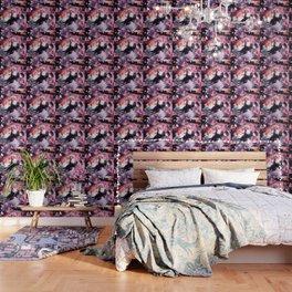 Thug Space Cat On Dinosaur Unicorn - Pizza Wallpaper