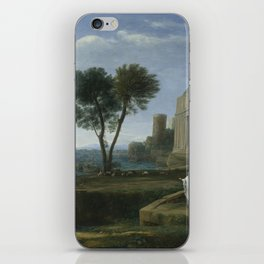 Landscape with Aeneas at Delos by Claude iPhone Skin