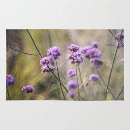 Purple wild flowers Rug
