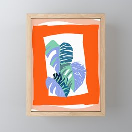 Banana leaves Framed Mini Art Print