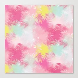 Blurred Blend - Pink Canvas Print