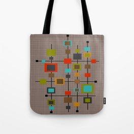 Mid-Century Modern Squares Pattern Tote Bag