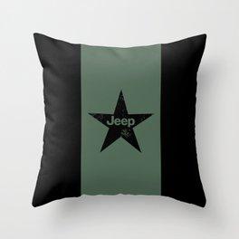 Jeep 'Star-Green' Throw Pillow
