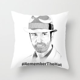 Mee-lah (Remember the Hat) Throw Pillow