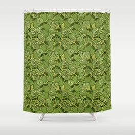 Lime Greenery Shower Curtain