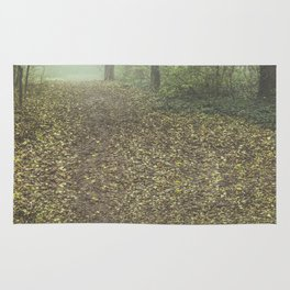 Walk in the Surreal Misty Forest Rug