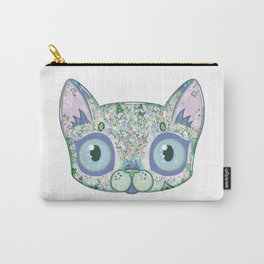 Chromatic Cat III (Green, Blue, Pink) Carry-All Pouch