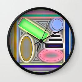 Colourplay with grey ... Wall Clock