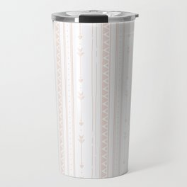 Pastel brown white bohemian arrows zigzag geometrical Travel Mug