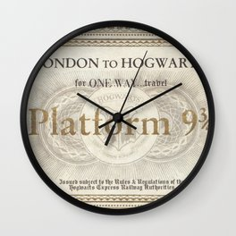 Platform 9 3/4 ticket Wall Clock