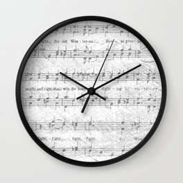 Wesleyan Fight Song Wall Clock