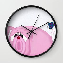Chumley The Pig And His Visitors Wall Clock