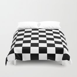 Black White Checker Duvet Cover
