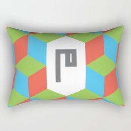 """Monogram Arabic Letter """"M"""" Rectangular Pillow"""