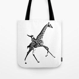 Giraffe Cowboy Tote Bag