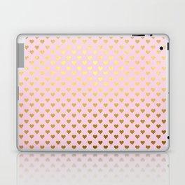 Princesslike - pink and gold elegant heart ornament pattern Laptop & iPad Skin