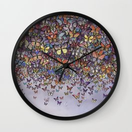 butterfly cascade Wall Clock