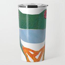 Tree Frog, Collage Travel Mug