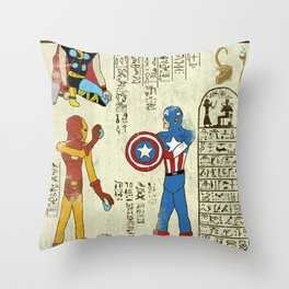 hero-glyphics: Avengers Throw Pillow